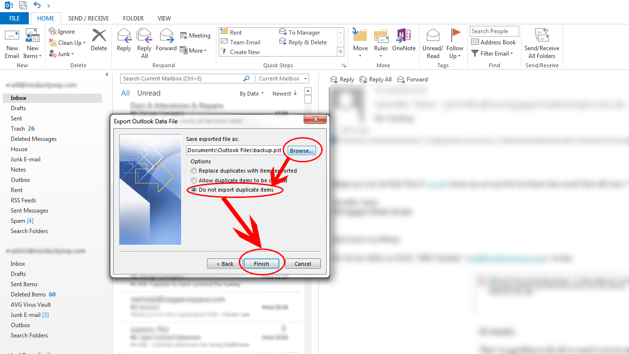 Outlook Email Backup 2010